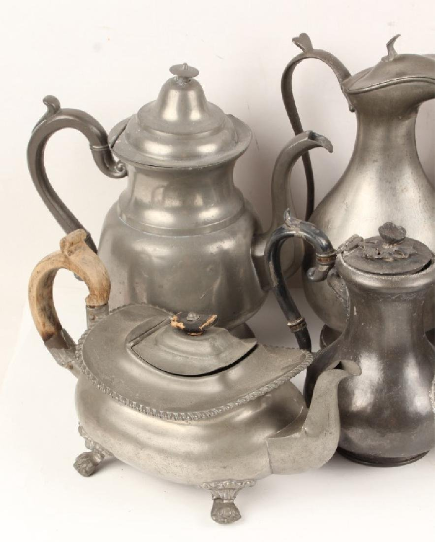 PEWTER TEAPOTS - LOT OF 10 - 2
