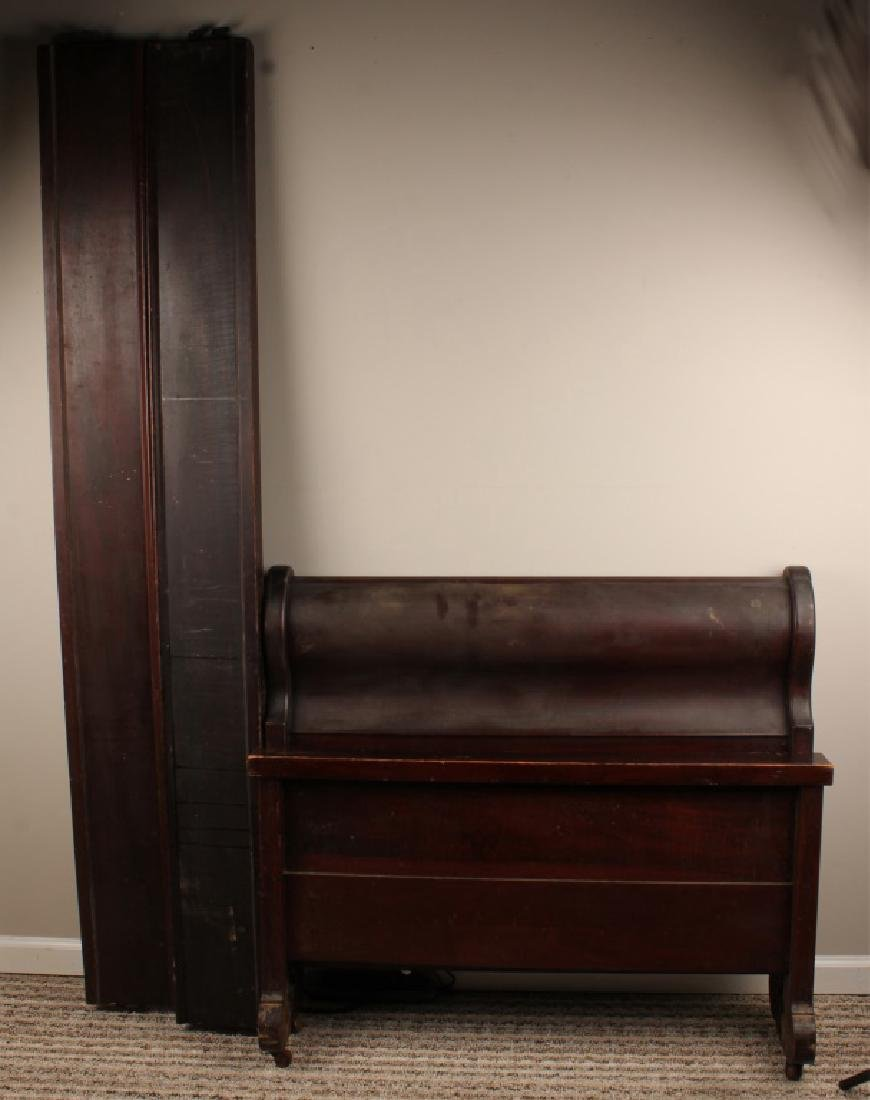 20TH C. TWIN WOODEN BED FRAME