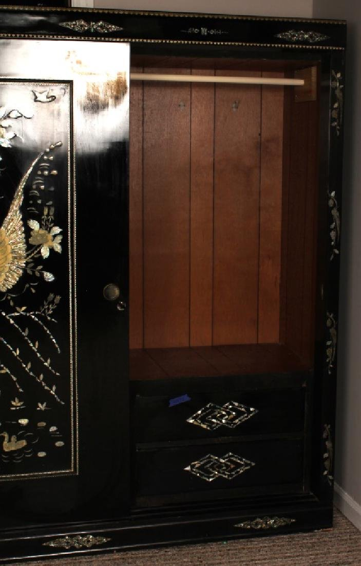 PAIR JAPANESE WARDROBE CLOSETS MOTHER OF PEARL - 5