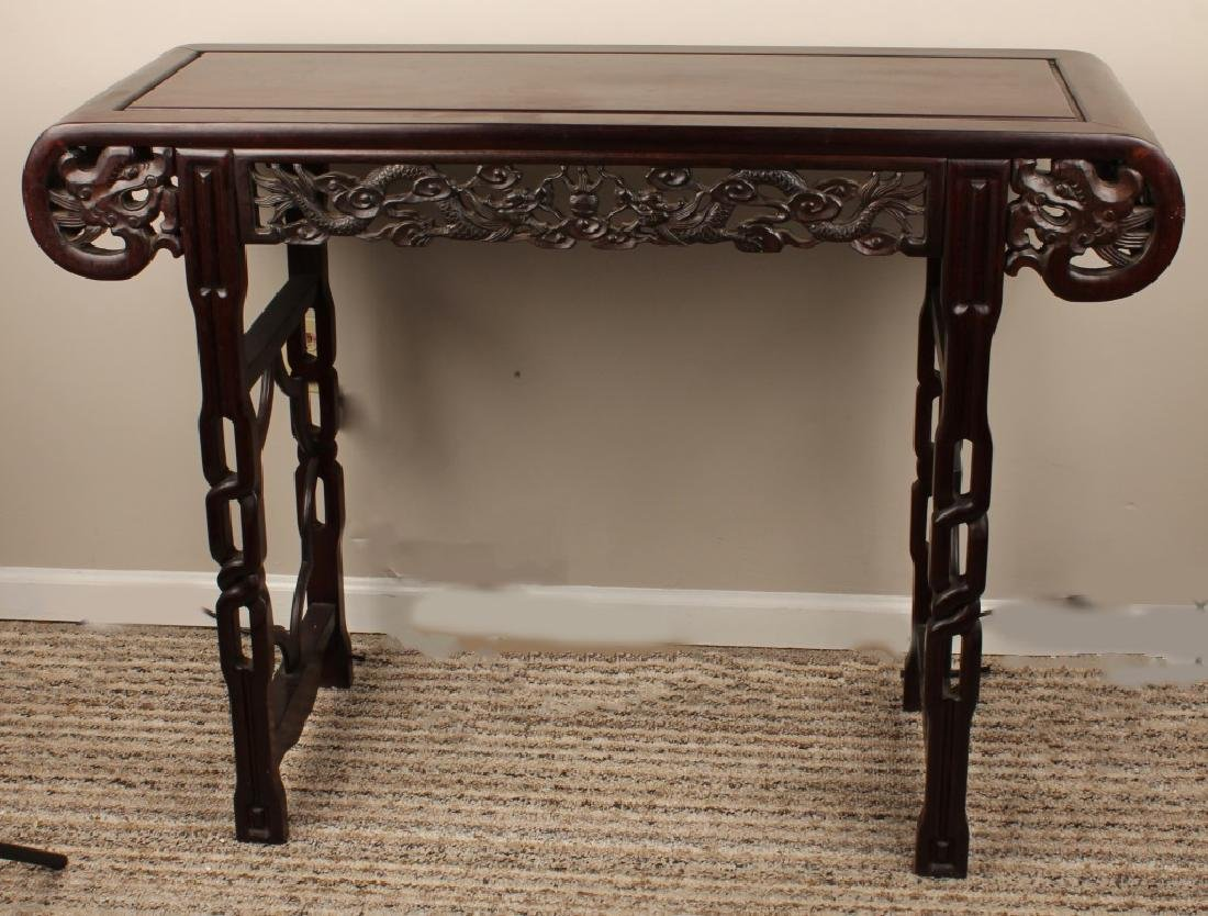 CHINESE CARVED WOODEN ALTAR TABLE