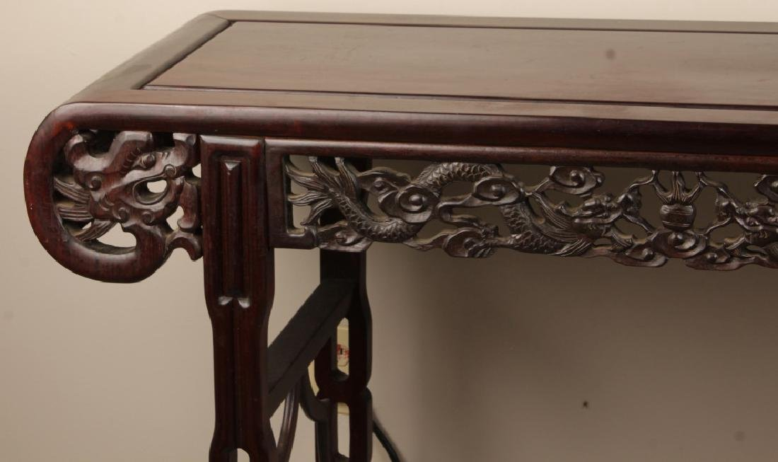 CHINESE CARVED WOODEN ALTAR TABLE - 2