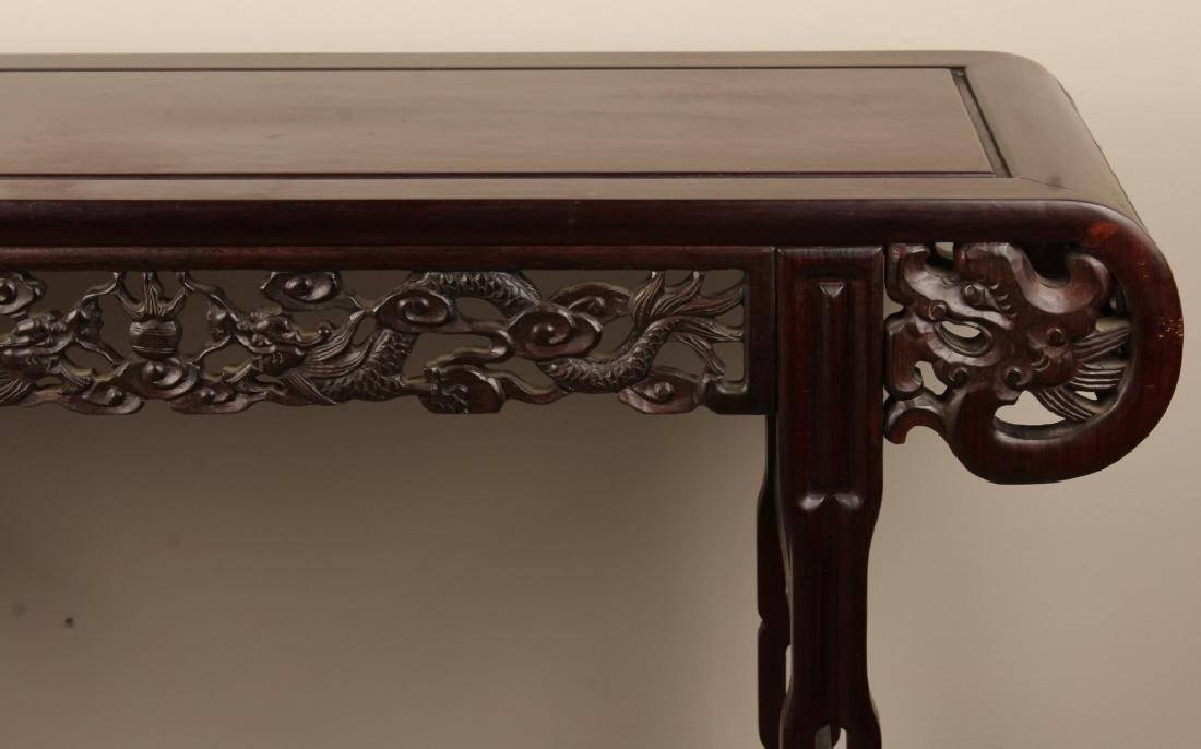CHINESE CARVED WOODEN ALTAR TABLE - 3