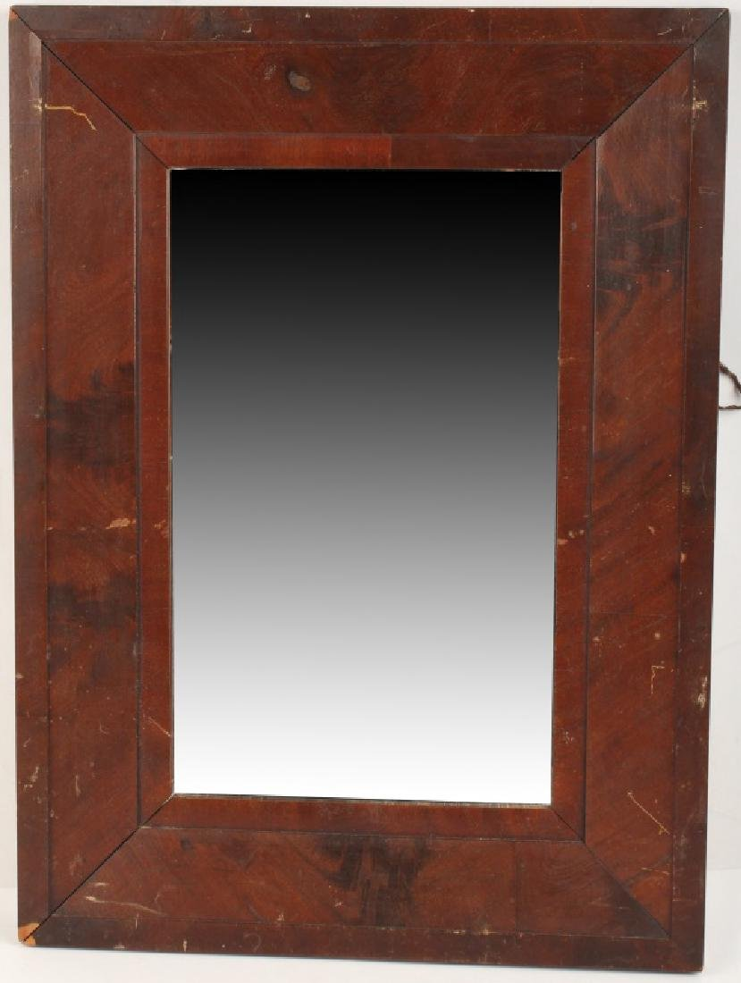 WALL MIRROR WITH CONCAVE WOOD FRAME