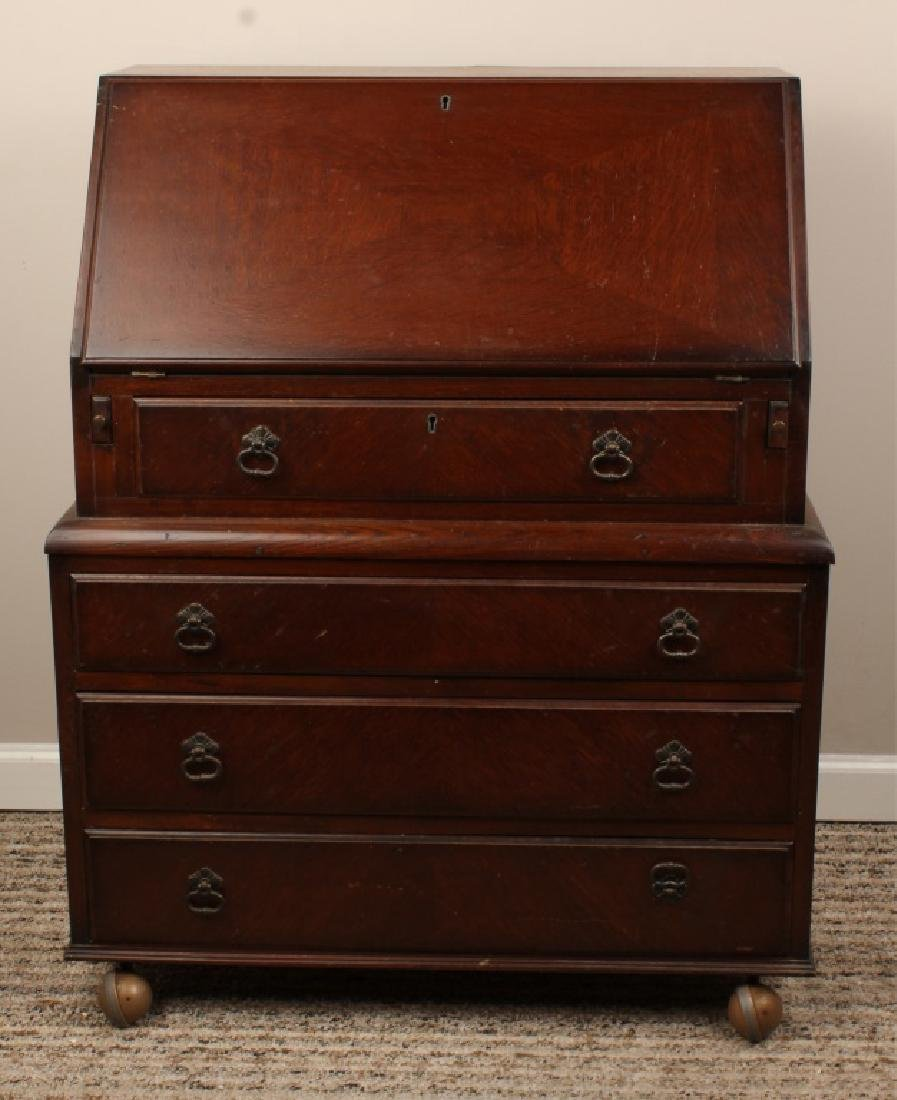 20TH CENTURY DROP FRONT SECRETARY CHEST