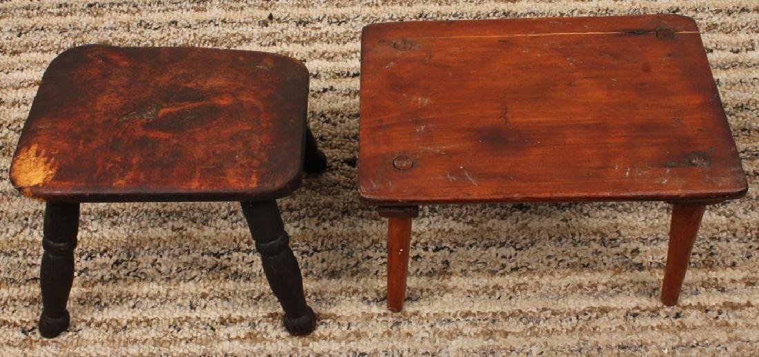 PAIR SMALL WOODEN STEP STOOLS