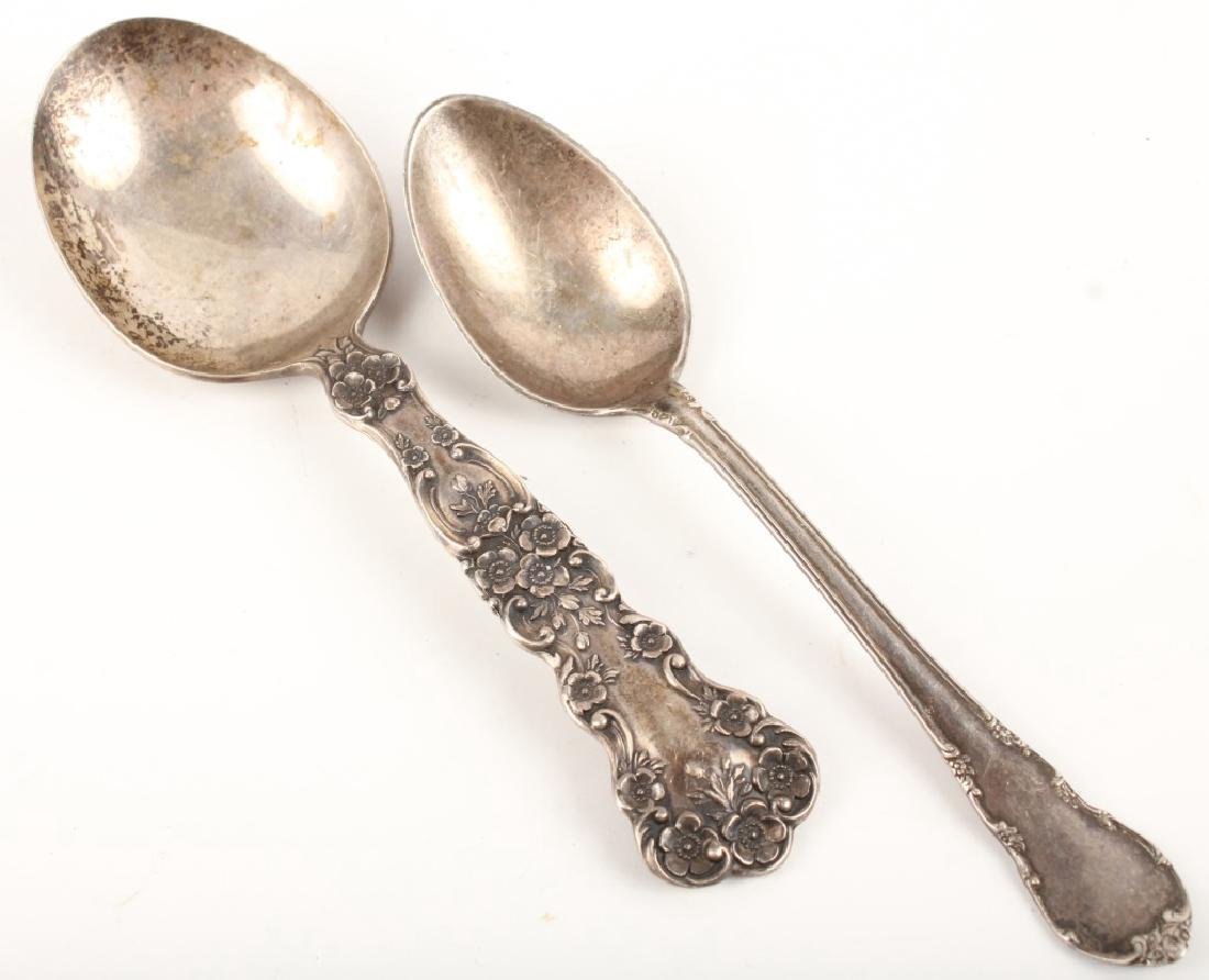 TWO STERLING SILVER DEMITASSE SPOONS