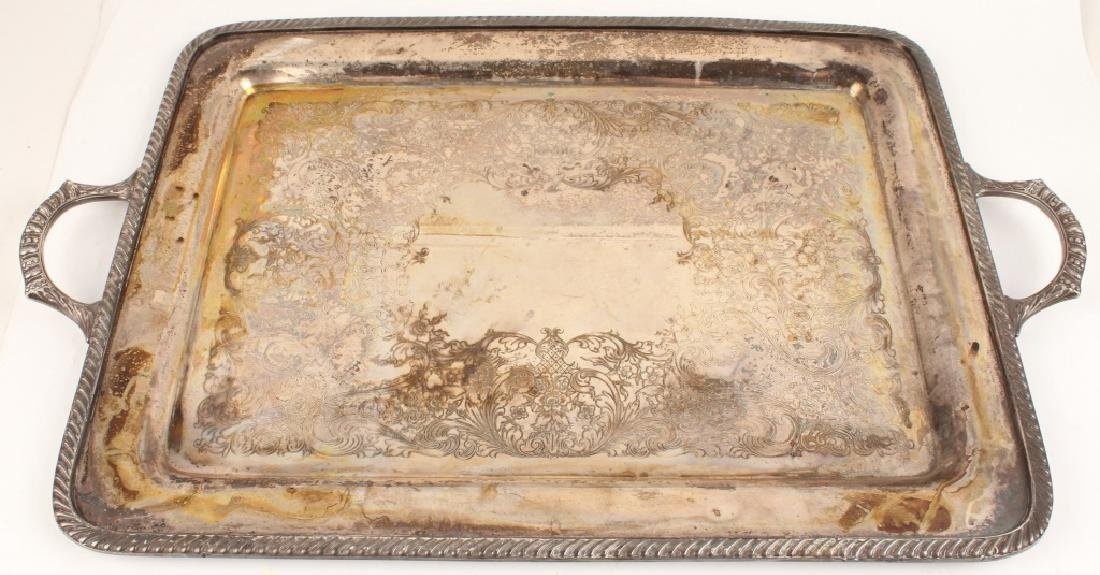SILVER PLATE WAITERS TRAY BY WM ROGERS