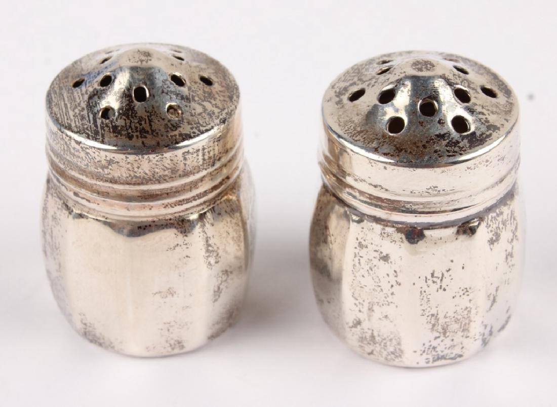 PAIR OF STERLING SILVER SALT AND PEPPER SHAKERS