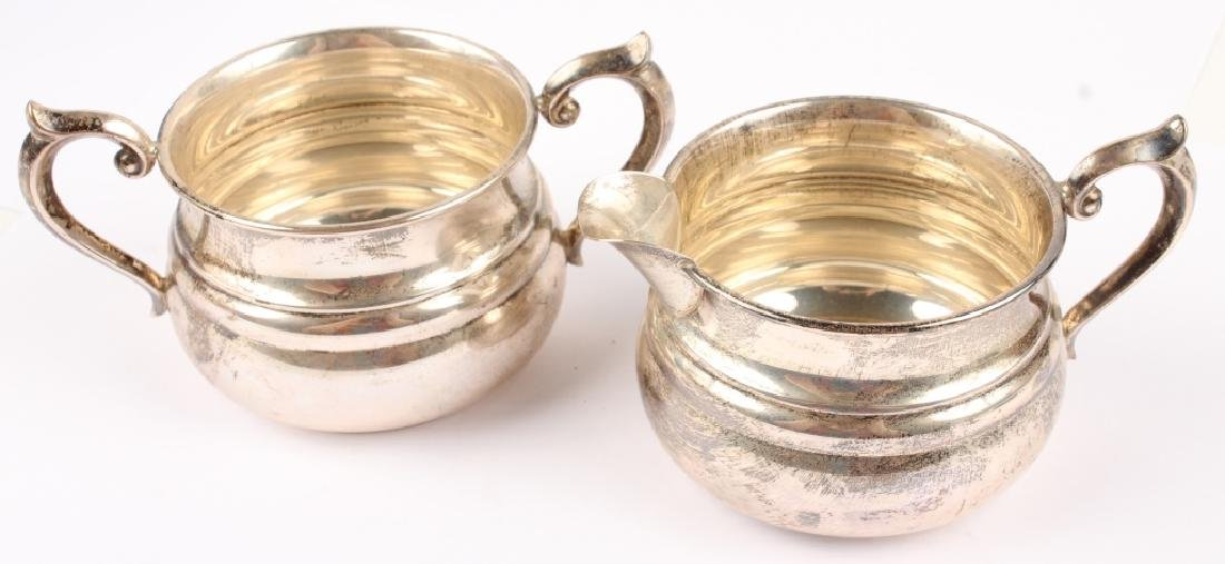 PAIR OF STERLING SILVER GORHAM CREAM & SUGAR DISH