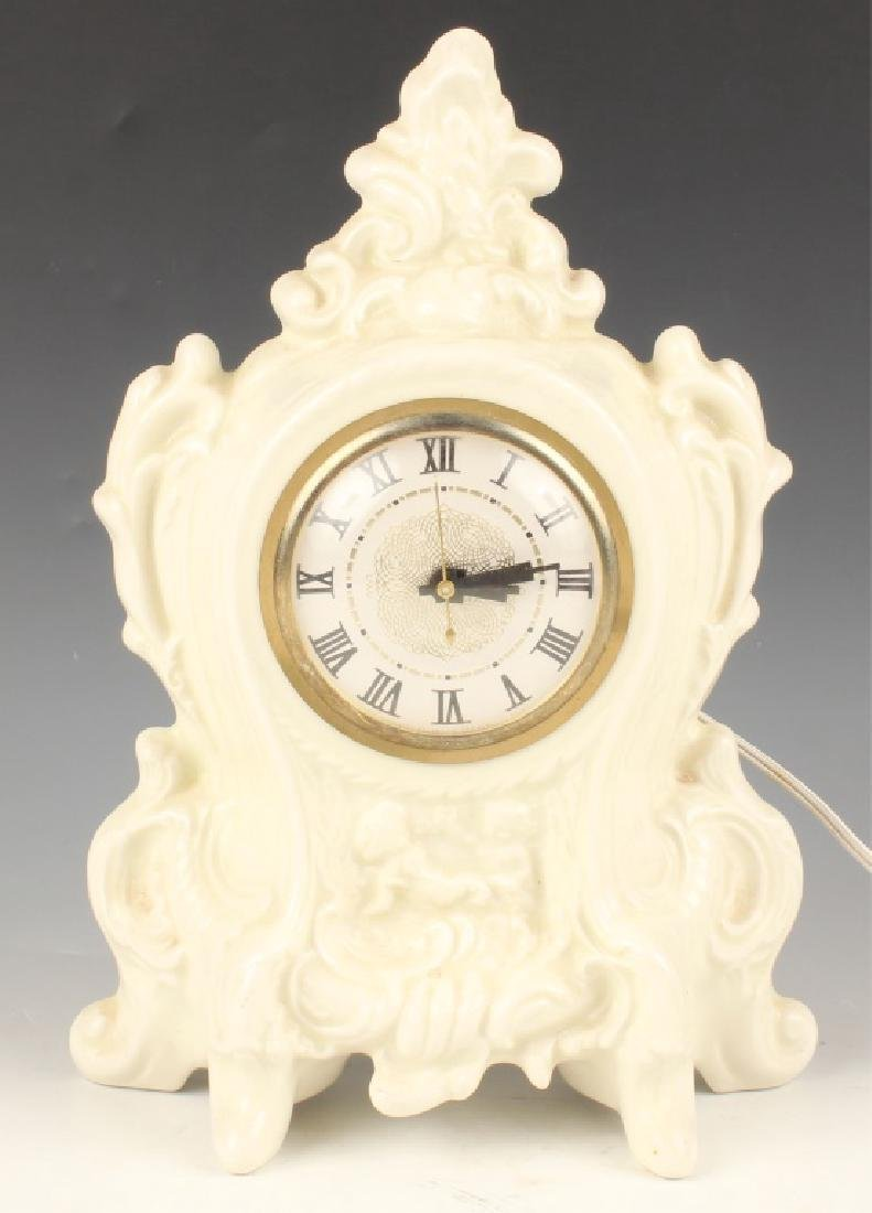 LANSHIRE PORCELAIN MANTLE CLOCK