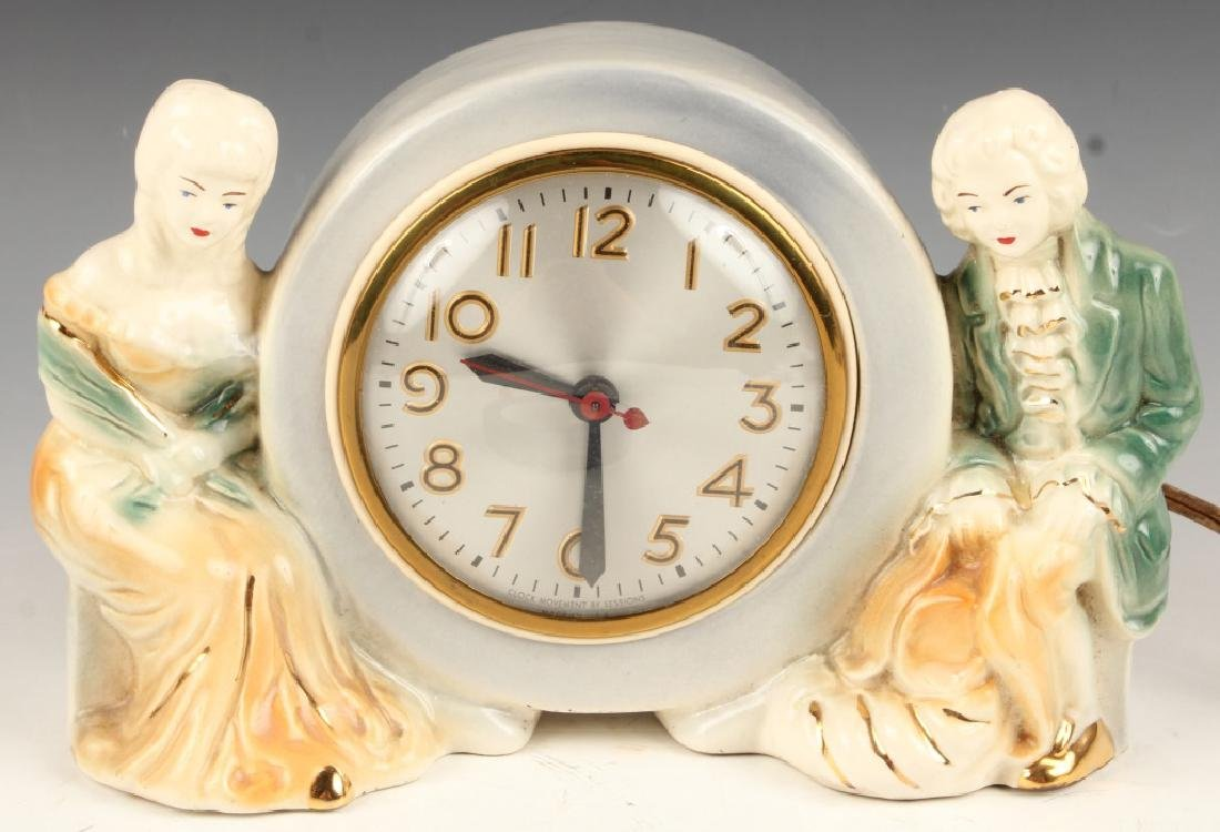 SESSIONS PORCELAIN MANTLE CLOCK