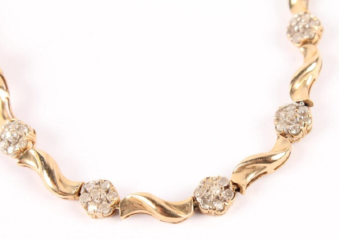LADIES 10K YELLOW GOLD DIAMOND FASHION BRACELET - 3