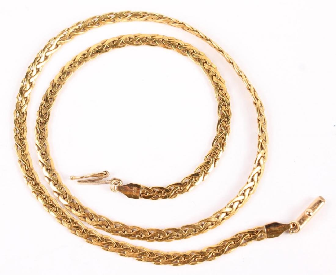 LADIES 14K YELLOW GOLD ITALIAN CHAIN LINK NECKLACE