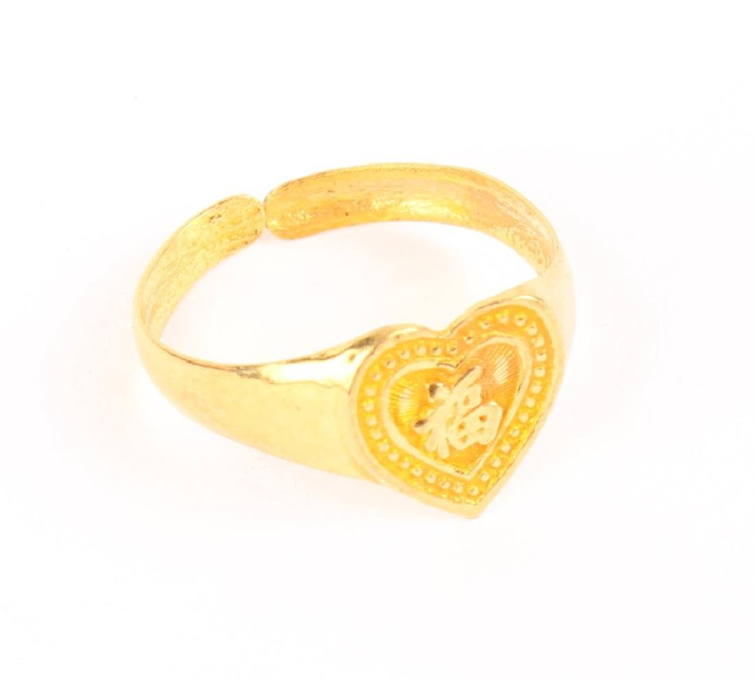 22K YELLOW GOLD CHINESE INFANT RING