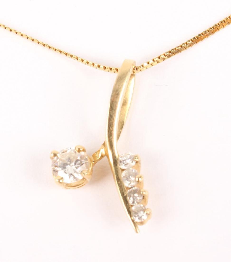14K GOLD LADIES DIAMOND NECKLACE