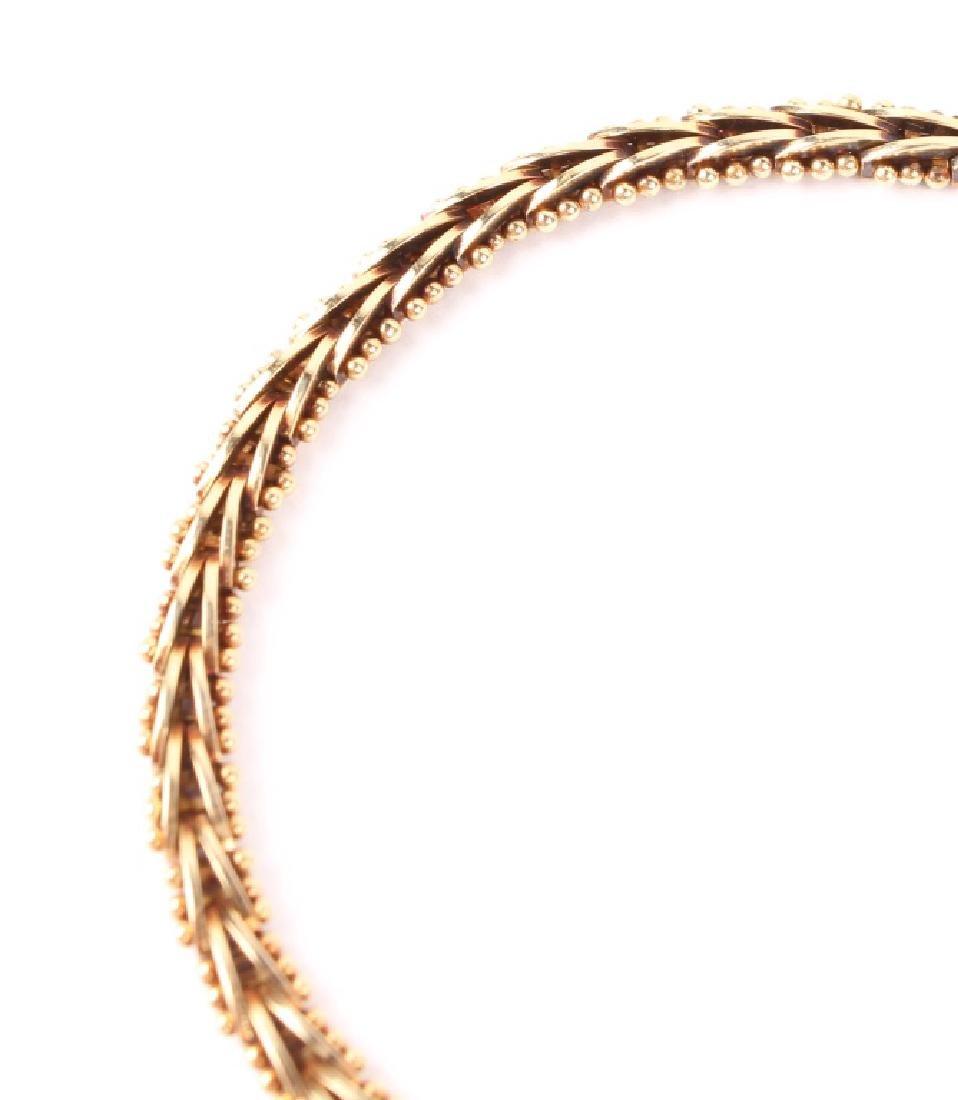 LADIES 14K YELLOW GOLD DIAMOND NECKLACE - 3