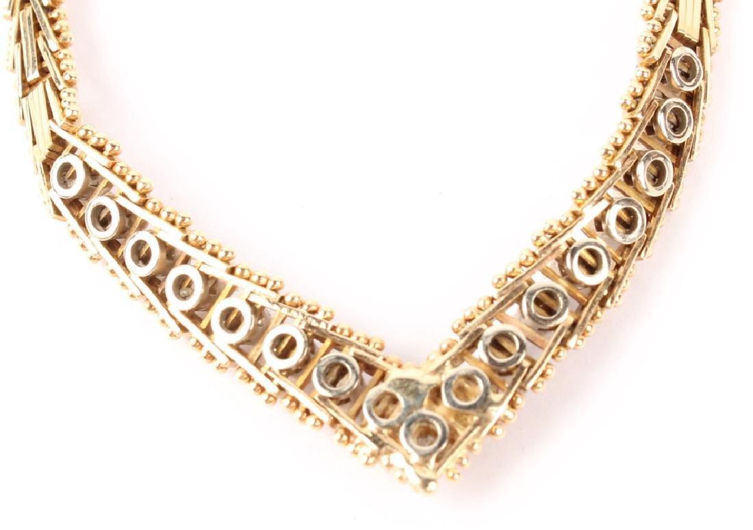 LADIES 14K YELLOW GOLD DIAMOND NECKLACE - 4