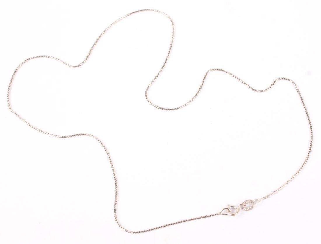18K WHITE GOLD BOX LINK CHAIN NECKLACE