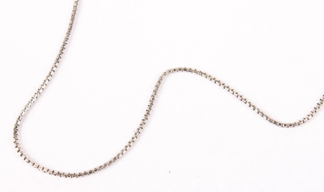 18K WHITE GOLD BOX LINK CHAIN NECKLACE - 2