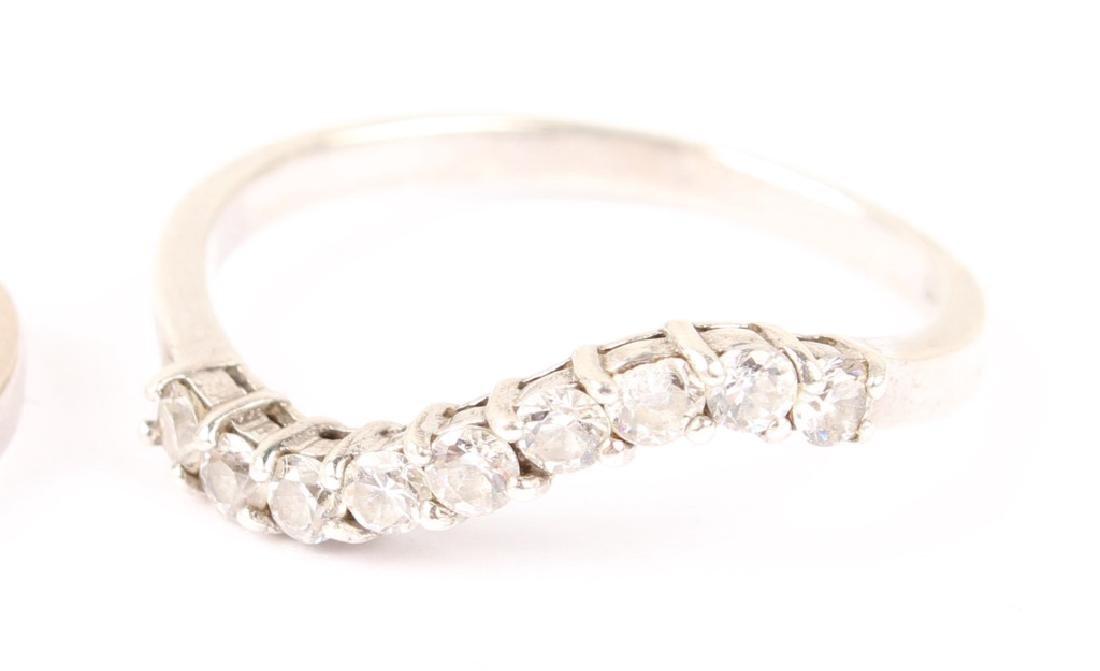 (2) LADIES 14K YELLOW GOLD DIAMOND BANDS - 3