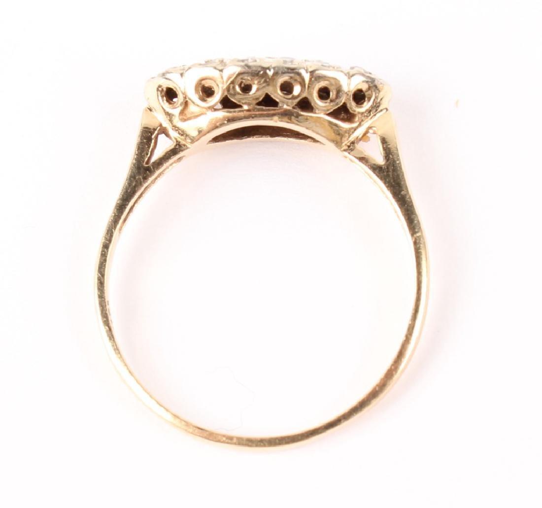 LADIES 14K YELLOW GOLD DIAMOND RING - 2