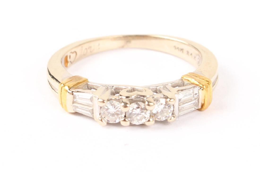 LADIES 14K WHITE GOLD DIAMOND BAND
