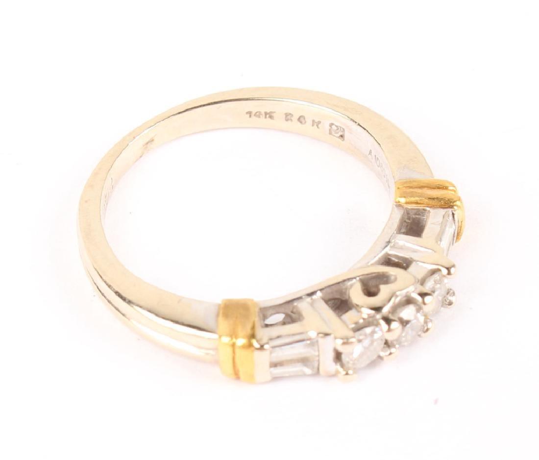 LADIES 14K WHITE GOLD DIAMOND BAND - 2