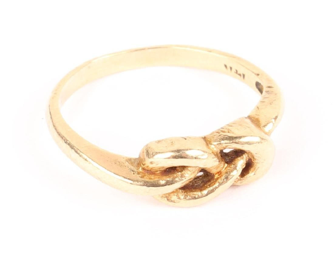 LADIES 14K YELLOW GOLD INFINITY KNOT RING