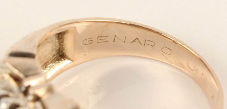 14K YELLOW GOLD DIAMOND FASHION RING - 3