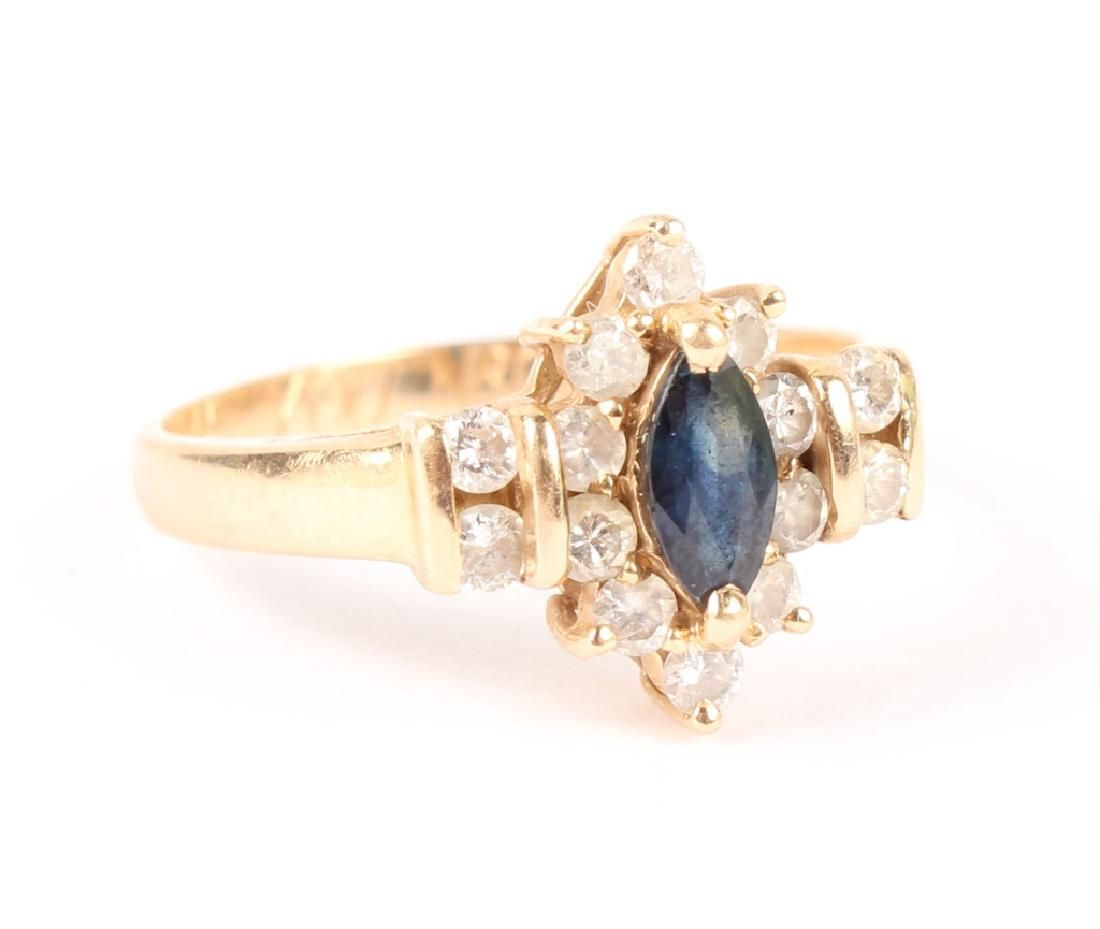 DIAMOND AND SAPPHIRE 14K GOLD RING