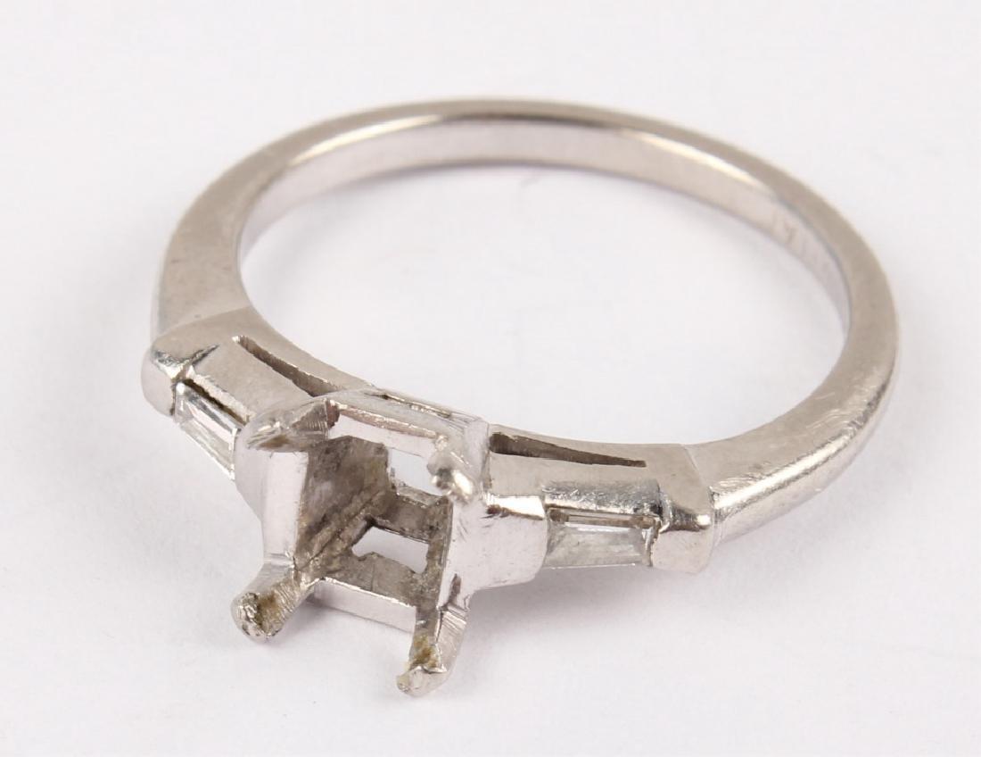 LADIES PLATINUM DIAMOND RING SEMIMOUNT