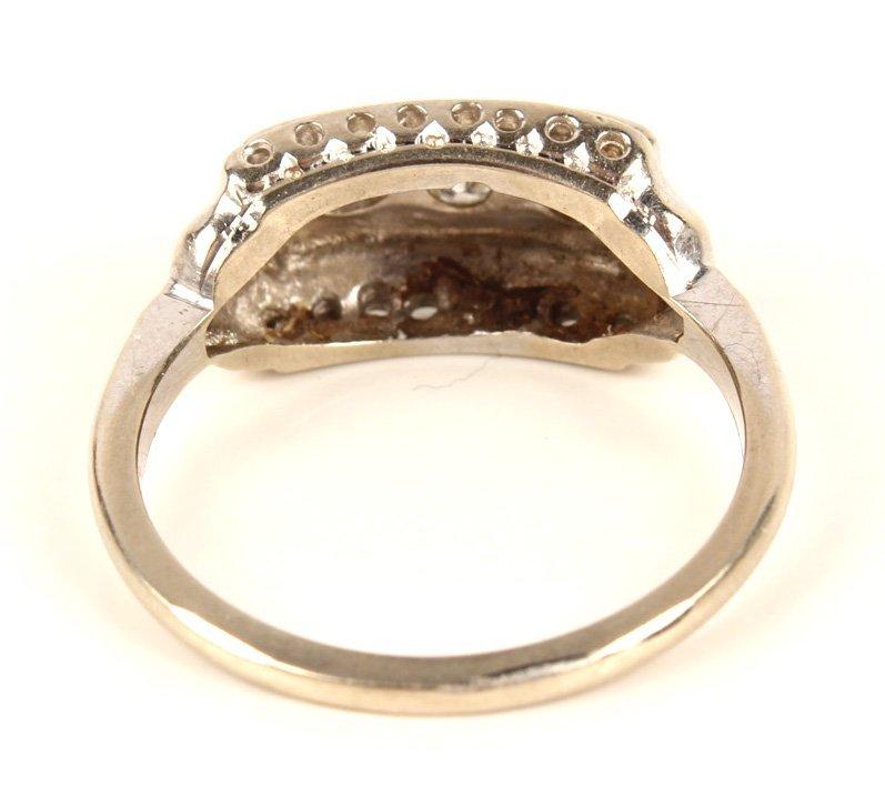 LADIES ANTIQUE PLATINUM DIAMOND FASHION RING - 4