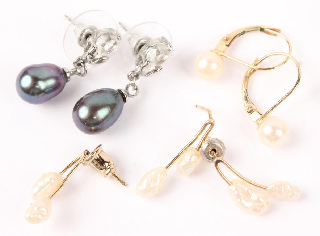 MIXED LOT OF LADIES PEARL EARRINGS - 2