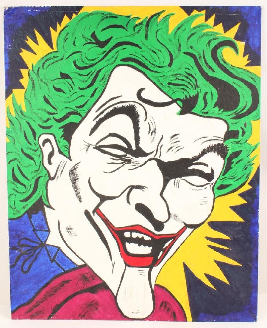 THE JOKER POP ART ORIGINAL ACRYLIC PAINTING