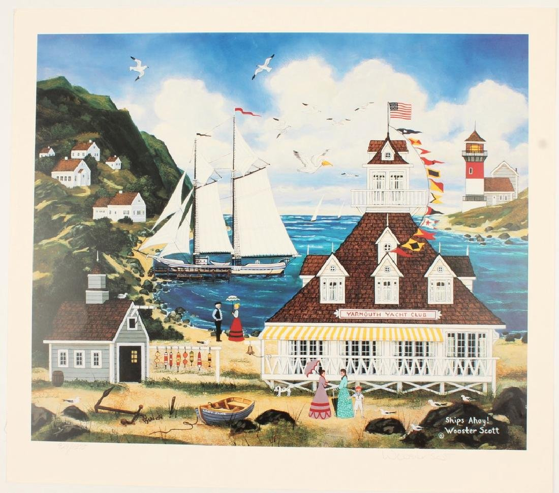 "WOOSTER SCOTT LIMITED ART PRINT ""SHIPS AHOY!"""