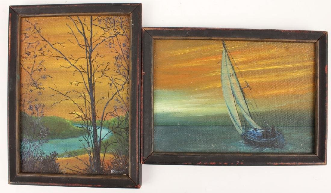 SIGNED HOLLAND OIL ON CANVAS PAINTINGS