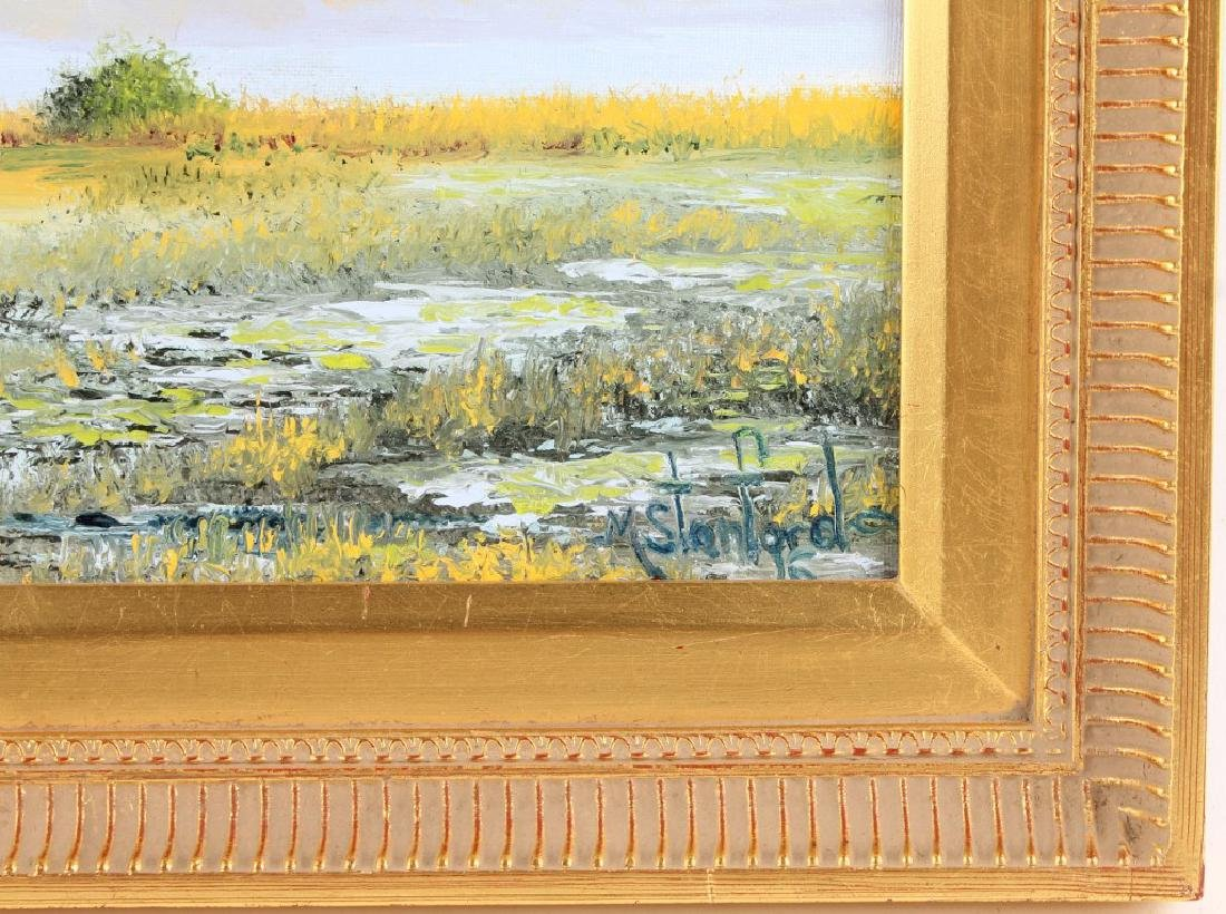 MARK STANFORD FLORIDA MARSH AIRBOAT OIL ON CANVAS - 3