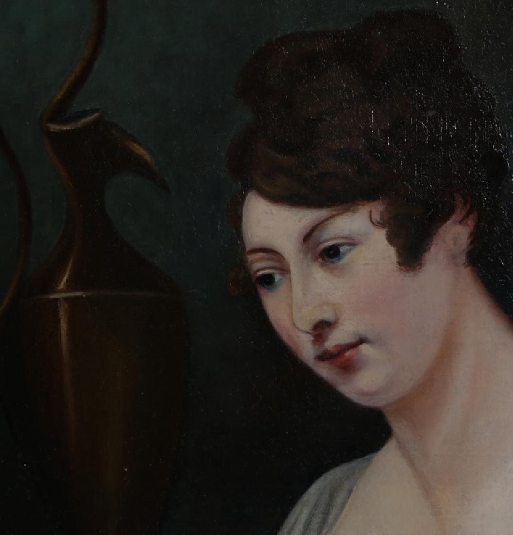 AMERICAN SCHOOL 19TH C RESTORED PORTRAIT OF LADY - 2