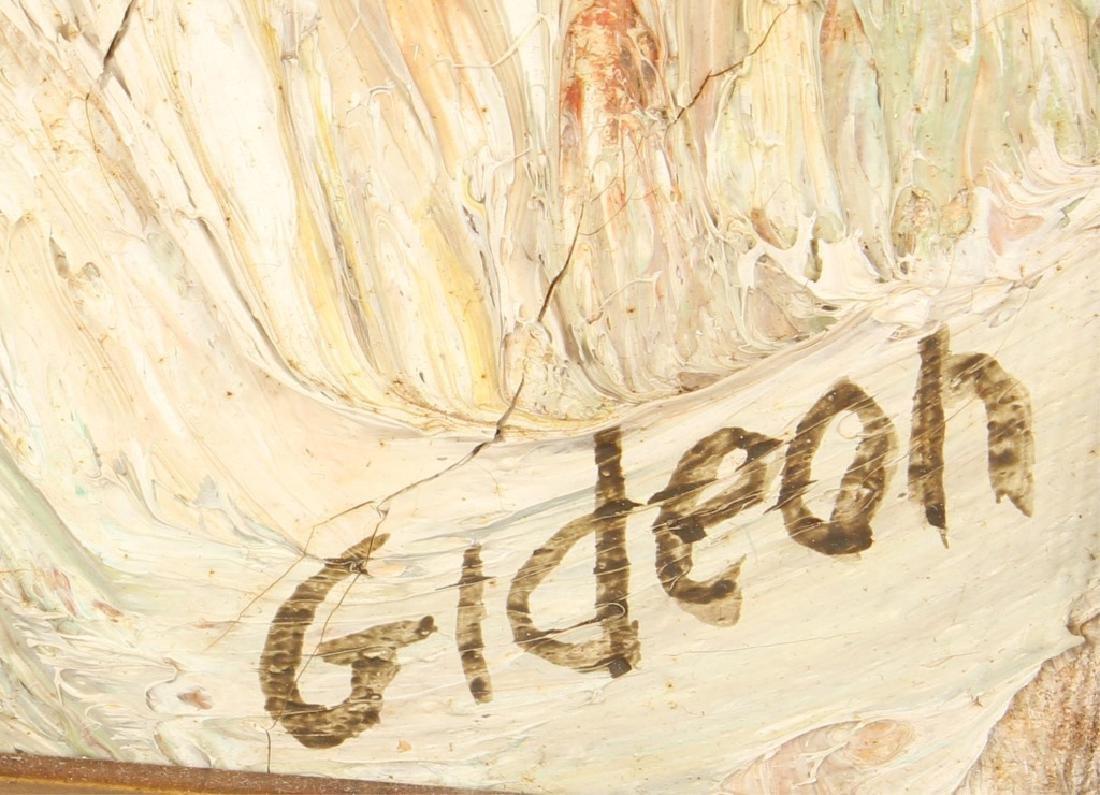 """ELMO GIDEON IMPRESSIONIST OIL PAINTING """"OLD MAN"""" - 3"""