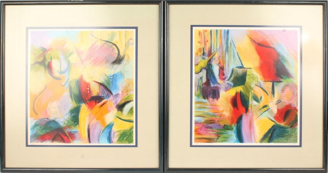 PAIR LIMITED EDITION CONTEMPORARY ART PRINTS