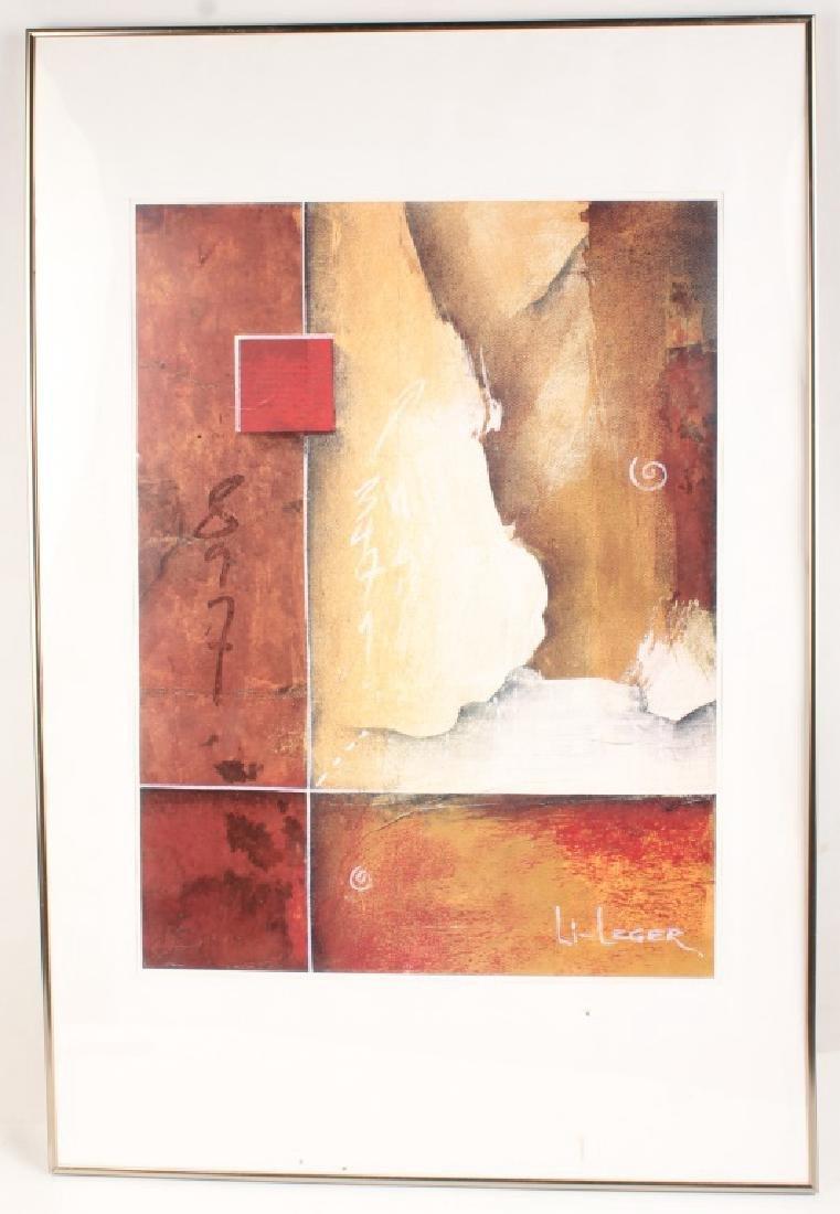 DON LI-LEGER CONTEMPORARY ABSTRACT ART PRINT FRAME