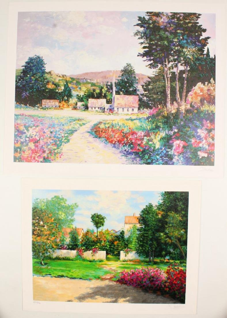 PAIR OF SIGNED ART PRINTS BY ALEX PEREZ