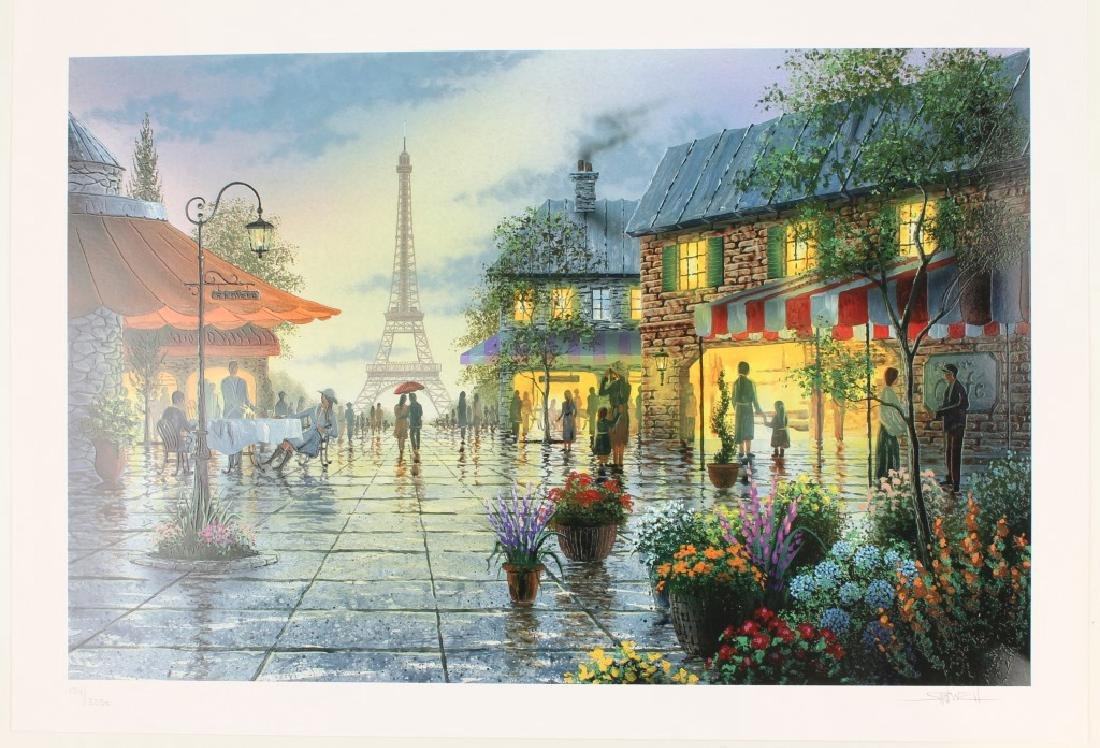 KEN SHOTWELL ART PRINT PARIS LOVERS/ EIFFEL TOWER