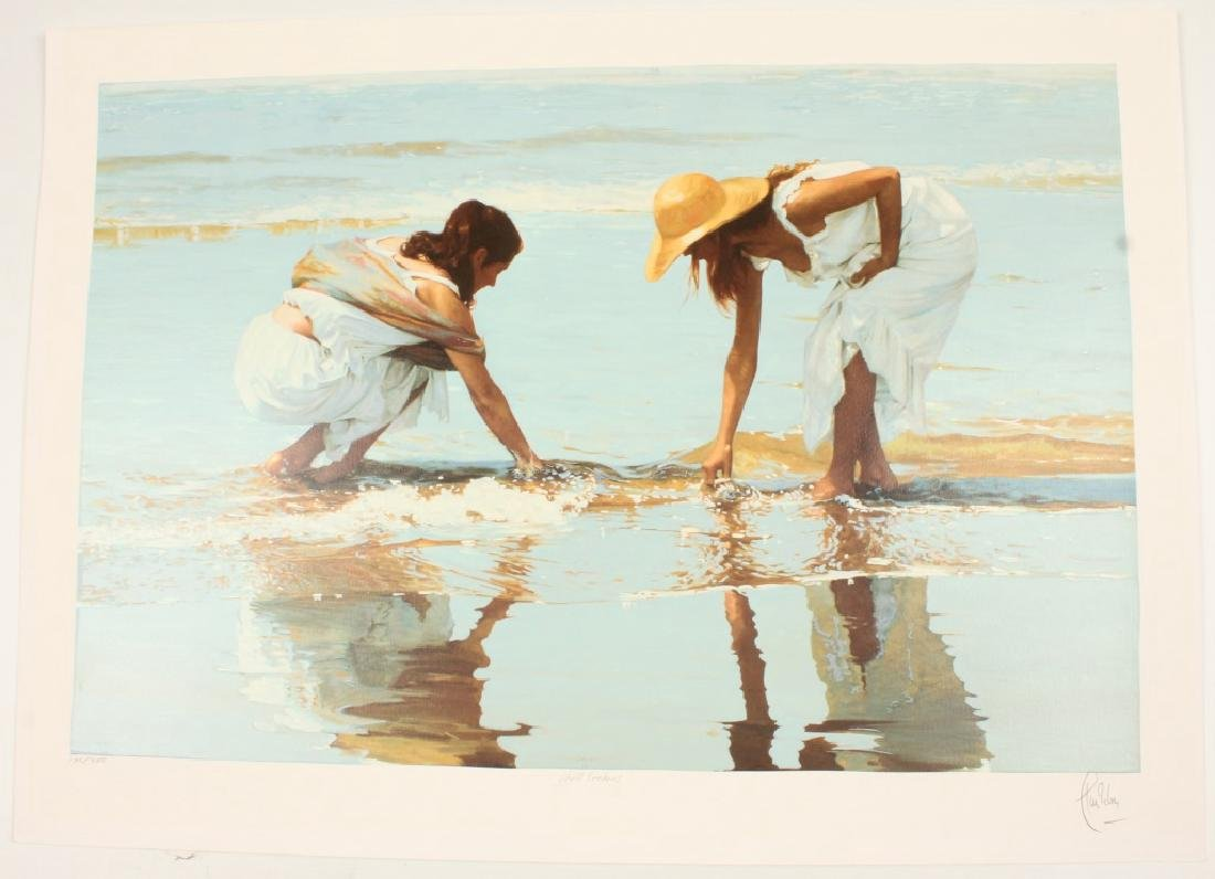 "LUIS RIBAS LIMITED ART PRINT ""SHELL SEEKERS"""