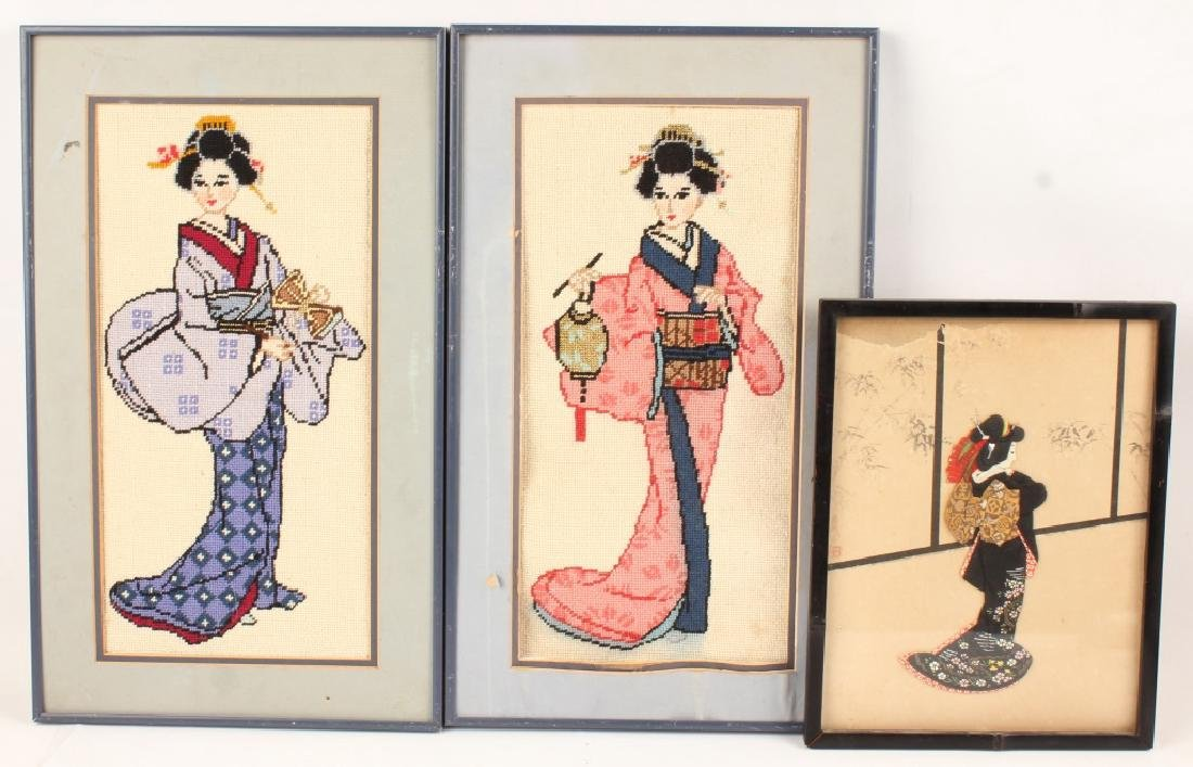 3 PIECE 20TH CENTURY CHINESE TEXTILE ART