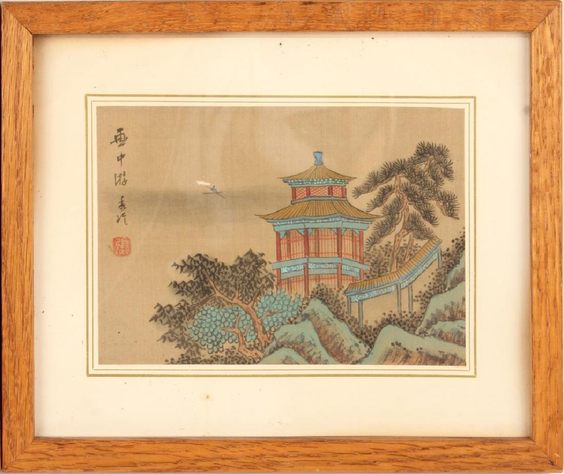 PAIR OF CHINESE PAINTINGS TO SILK - 3