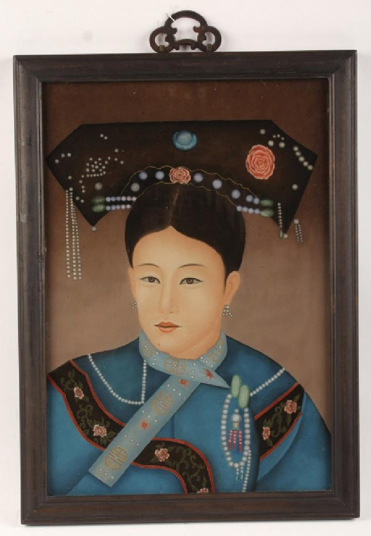 CHINESE REVERSE PAINTED EMPRESS PORTRAIT