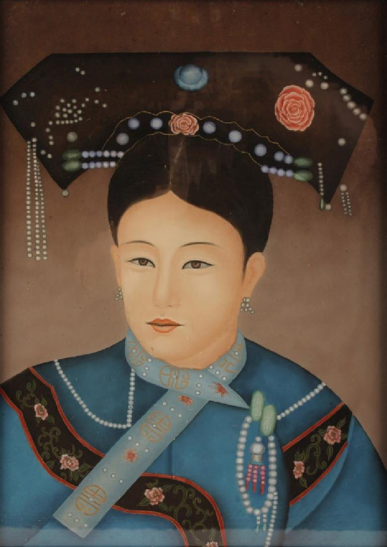 CHINESE REVERSE PAINTED EMPRESS PORTRAIT - 2