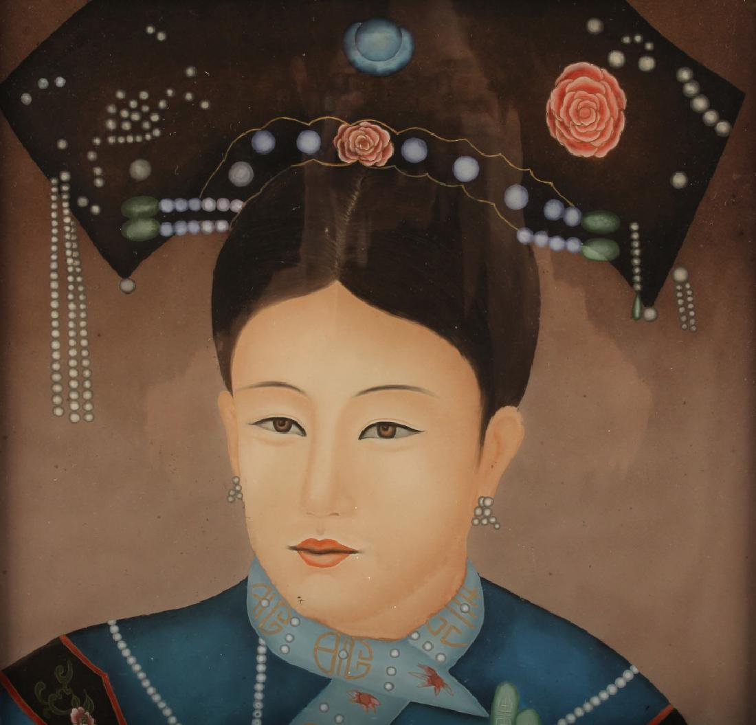 CHINESE REVERSE PAINTED EMPRESS PORTRAIT - 3