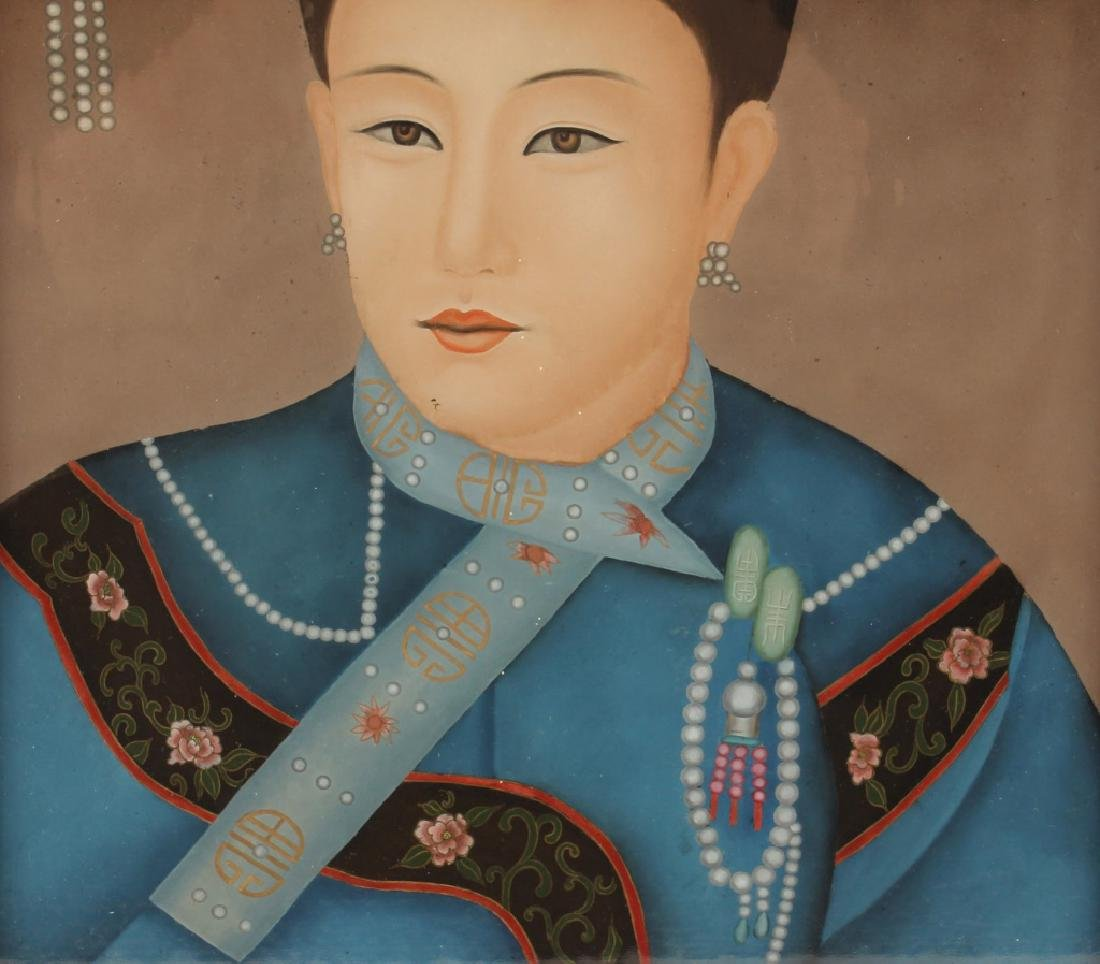 CHINESE REVERSE PAINTED EMPRESS PORTRAIT - 4
